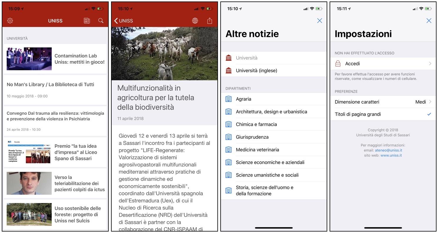 App UNISS per sistemi IOS