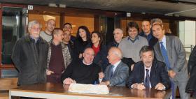 Da sinistra Massimo Carpinelli, Ettore Fiorini e Fernando Ferroni