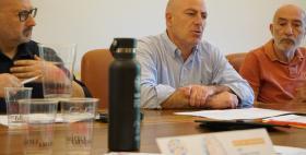 Conferenza stampa V laurea in piazza Uniss 2019_Da sinistra Antonio Bisaccia, Massimo Carpinelli, Carlo Colombino