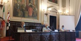 Conferenza stampa presentazione progetti edilizi_Simone Loddo, Massimo Carpinelli, Cristiano Nicoletti