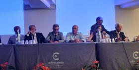 Il Rettore Uniss Massimo Carpinelli alla presentazione del progetto ET al Sigrav 2018 (Pula)
