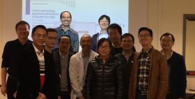 Il prof. Giordano Madeddu e i partecipanti al progetto SICT