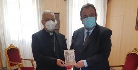 Il Rettore Mariotti in visita da S.E. Mons. Gianfranco Saba