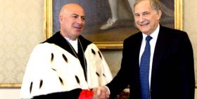 Massimo Carpinelli e l'Ambasciatore USA in Italia John Phillips