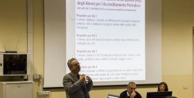 Prof. Luigi Montanari e il Presidio di qualità dell'Ateneo