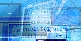 Numeri binari computer schermi