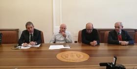 Da sinistra Cristiano Nicoletti, Massimo Carpinelli, Luca Deidda, Roberto Furesi