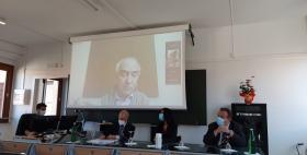 Conferenza stampa con Giacomo Cao, Antonella Pantaleo, Gavino Mariotti, Gilberto Gabrielli