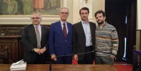 Da sinistra, Plinio Innocenzi, Antonio Di Rosa, Massimilano Lisa, Edoardo Zanon