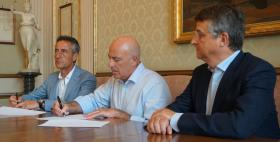Borsa di studio Rina Mazzette_Da sinistra Marco Antonio Pes, Massimo Carpinelli, Enrico De Santis