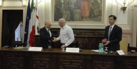 Francesco Feliziani, Massimo Carpinelli ed Eugenio Garribba