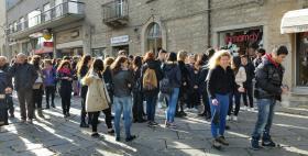 Il primo flash mob riparativo_Tempio Pausania 23 novembre 2016_Università di Sassari