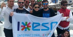 Foto di gruppo studenti Erasmus ESN