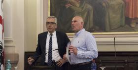 Francesco Pigliaru e Massimo Carpinelli_Cern_Infn_e_Uniss_per_lo_sviluppo_del_territorio