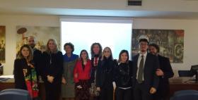 Il gruppo di progetto Dentro e fuori_libertà dalla pena attraverso l'istruzione con i docenti del Master_Roma, Università Tor Vergata, 17 dicembre 2018