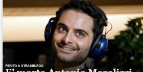 Antonio Megalizzi_Home page dei sito Ansa.it