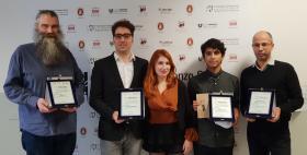 Vincitori concorso Fiorenzo Serra 2018_Davor Boric, Nicola Marongiu e Cinzia Carrus, Oscar Galeote, Omar Mouldoira
