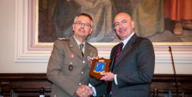 Il Generale di Divisione Comfordot Michele Pellegrino e il Rettore Massimo Carpinelli