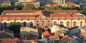 Il palazzo centrale dell'Università di Sassari visto dall'alto