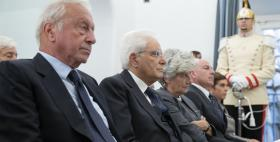 il presidente Mattarella con Mario Segni e Massimo Carpinelli_Foto dal sito Quirinale.it