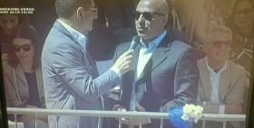 Il Rettore Massimo Carpinelli alla Cavalcata sarda 2017