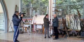 Il Rettore Massimo Carpinelli con la RAI a Sos Enattos (Lula)