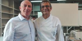 Il Rettore Massimo Carpinelli e lo chef Roberto Petza