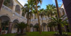 Il cortile interno del palazzo centrale dell'Università di Sassari