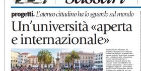 """Inserto dedicato all'Università di Sassari su """"Avvenire"""" del 4/11/2018"""