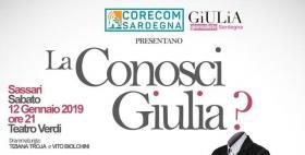 Spettacolo La conosci Giulia con il patrocinio dell'Università di Sassari