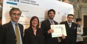 Marco Medda premiato dall'Aicun_Università di Sassari