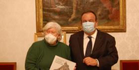 La Rettrice Maria Del Zompo e il Rettore Gavino Mariotti