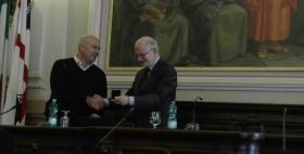 Il Rettore Massimo Carpinelli e il Presidente del Consiglio di Stato Alessandro Pajno