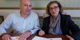 Il Rettore Massimo Carpinelli e la presidente CRUS Iolanda La Gatta