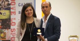 Michela Loi e il presidente del CUS Nicola Giordanelli