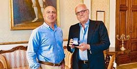 Il Rettore Massimo Carpinelli e il prof. Andrea Di Porto