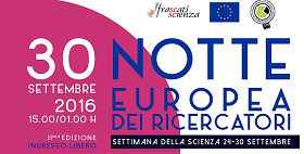 Banner Notte europea ricercatori 2016
