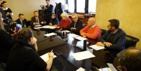 I Rettori Massimo Carpinelli e Maria Del Zompo con Francesco Pigliaru e Maria Grazia Piras