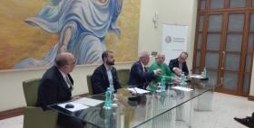 Il Rettore Massimo Carpinella alla presentazione della digitalizzazione dell'archvio di Antonio Segni