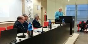 Presentazione aziende top 500_La Nuova Sardegna_Il Rettore Uniss Massimo Carpinelli