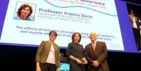 Franca Deriu, Università di Sassari, premiata al GMSI Award Ceremony_Berlino 9 ottobre 2018