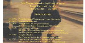Programma convegno I diritti del malat terminale contro la sofferenza inutile