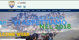 Home page del nuovo sito web del Cus Sassari