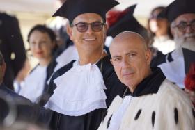 Carpinelli e Manzoni a Laurea in Piazza 2019