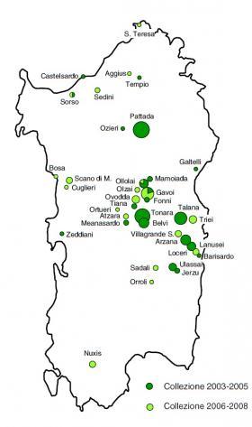 Cartina accessioni fagiolo