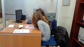 Ragazzi in alternanza scuola lavoro all'ufficio orientamento UNISS
