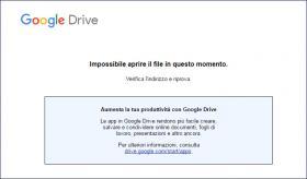 Errore accesso ai moduli google