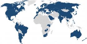 Mappa distribuzione servizio Eduroam in Europa
