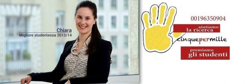 Chiara, Miglior studentessa 2013/14 - 5x1000