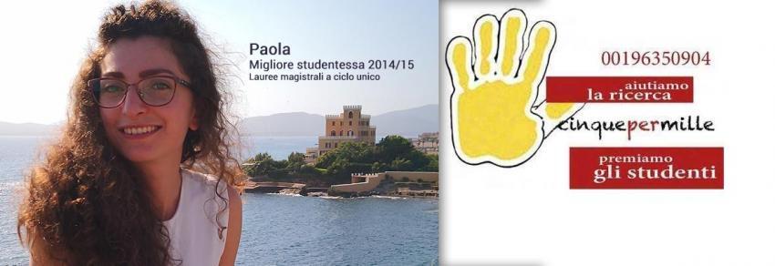 Paola, migliore studentessa 2014/2015